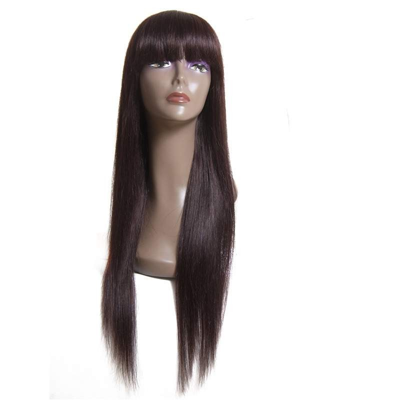 AfricanMall Long Iron Hot Straight Hair Wigs