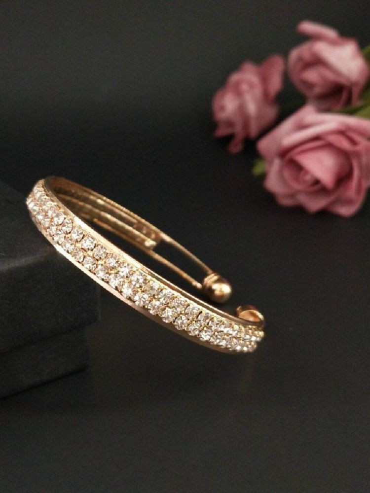 Diamante Simple Hollow Out Cuff Bracelet