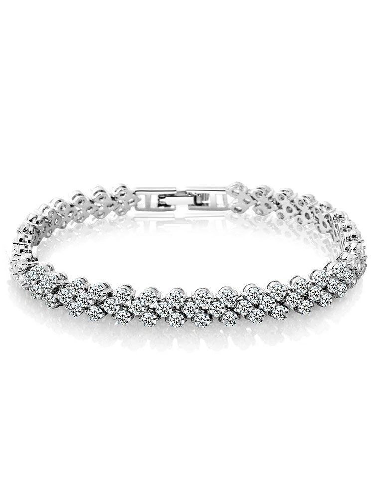 Heart Shape Artificial Crystal Bracelet