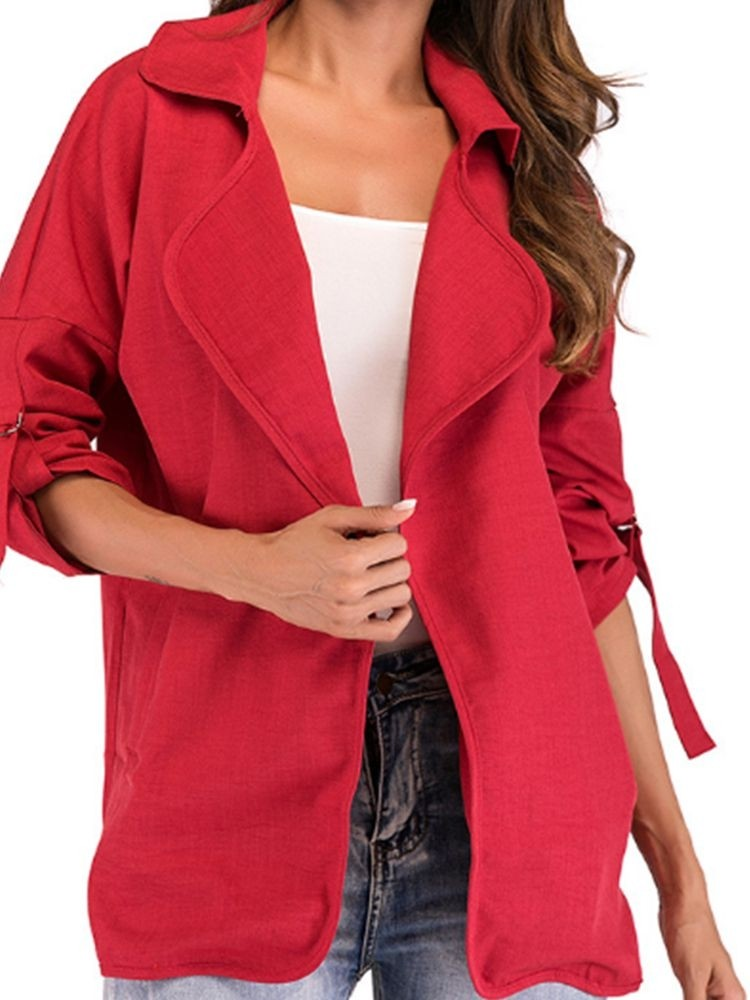 JurllyShe Adjustable Sleeve Length Split Coat