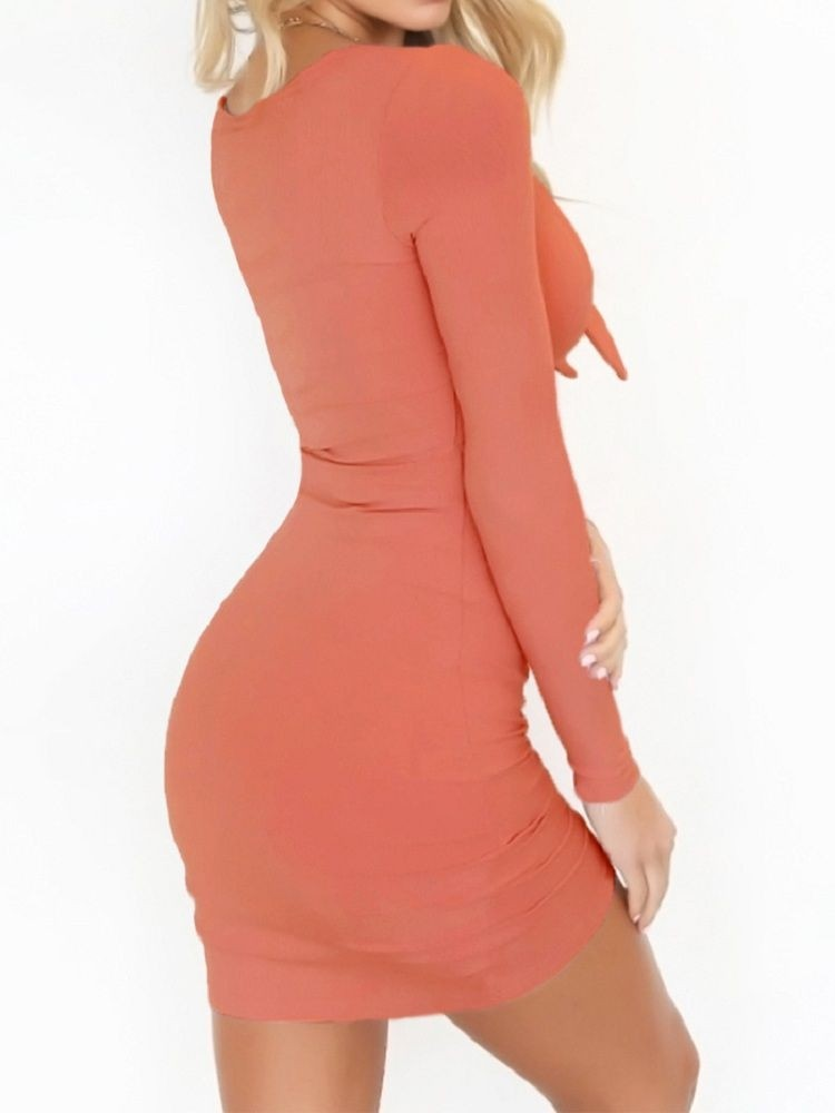 JurllyShe Boe Front Hollow Out Bodycon Dress