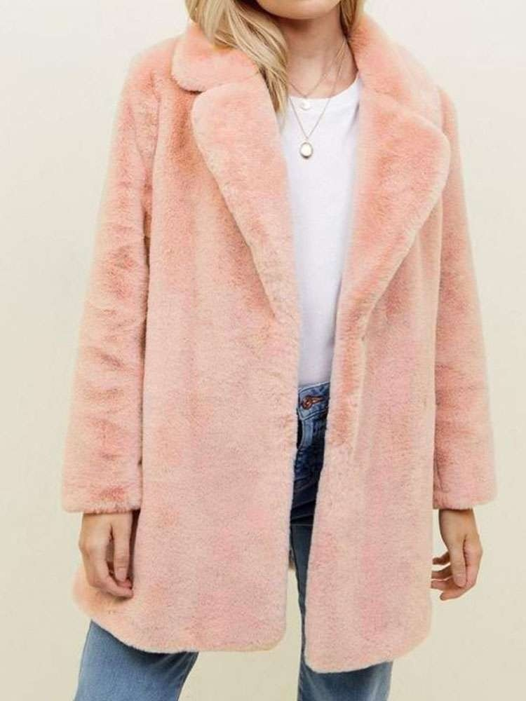 JurllyShe Faux Fur Open Winter Coat