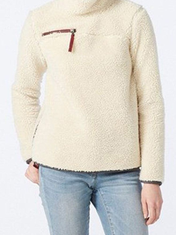 JurllyShe Flocking Spliced Winter Sweatshirt