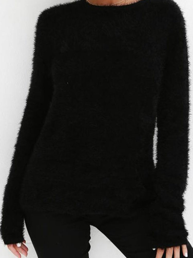 JurllyShe Long Sleeve Plush  Sweatshirt