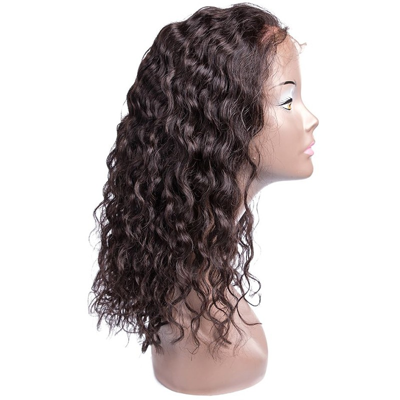 AfricanMall Latest Fabulous Lace Front Wigs 100% Human Hair Water Wave