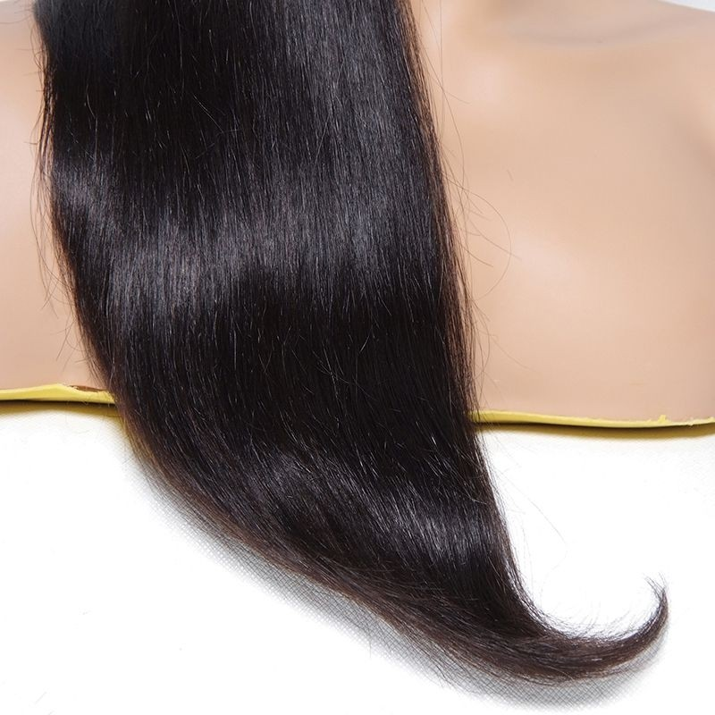 AfricanMall Hair Long Straight Wig With Full Bangs 22 Inch