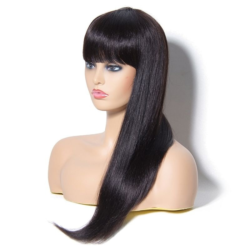 UNice Hair Long Straight Wig With Full Bangs 22 Inch
