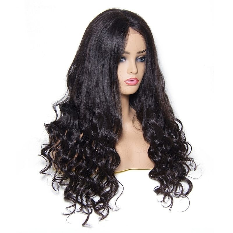 UNice Human Hair Natural Wave Lace Front Wig 100% Human Hair