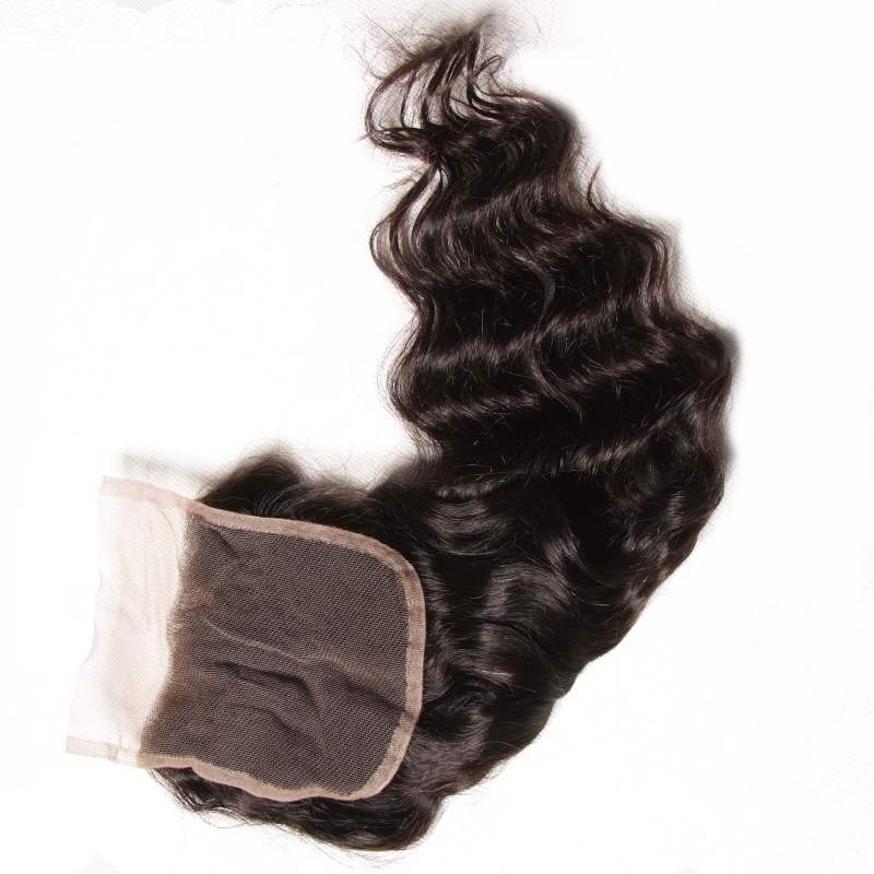 UNice Brazilian Virgin Natural Wave With 4*4 Lace Closure