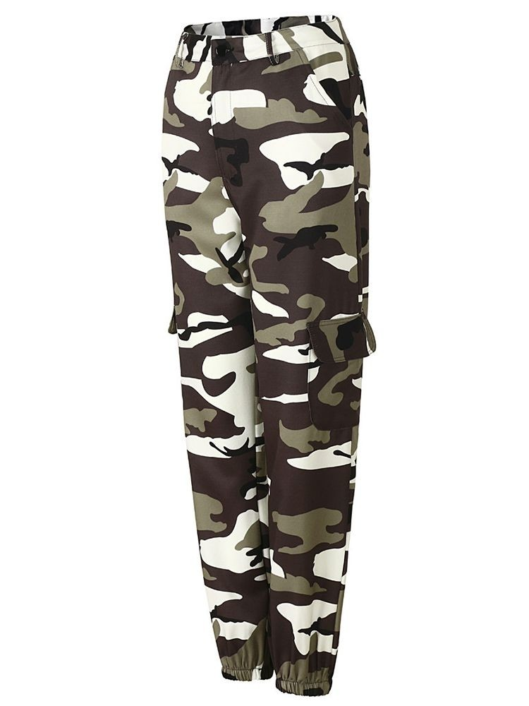 JurllyShe Pockets Camouflage Loose Joggers