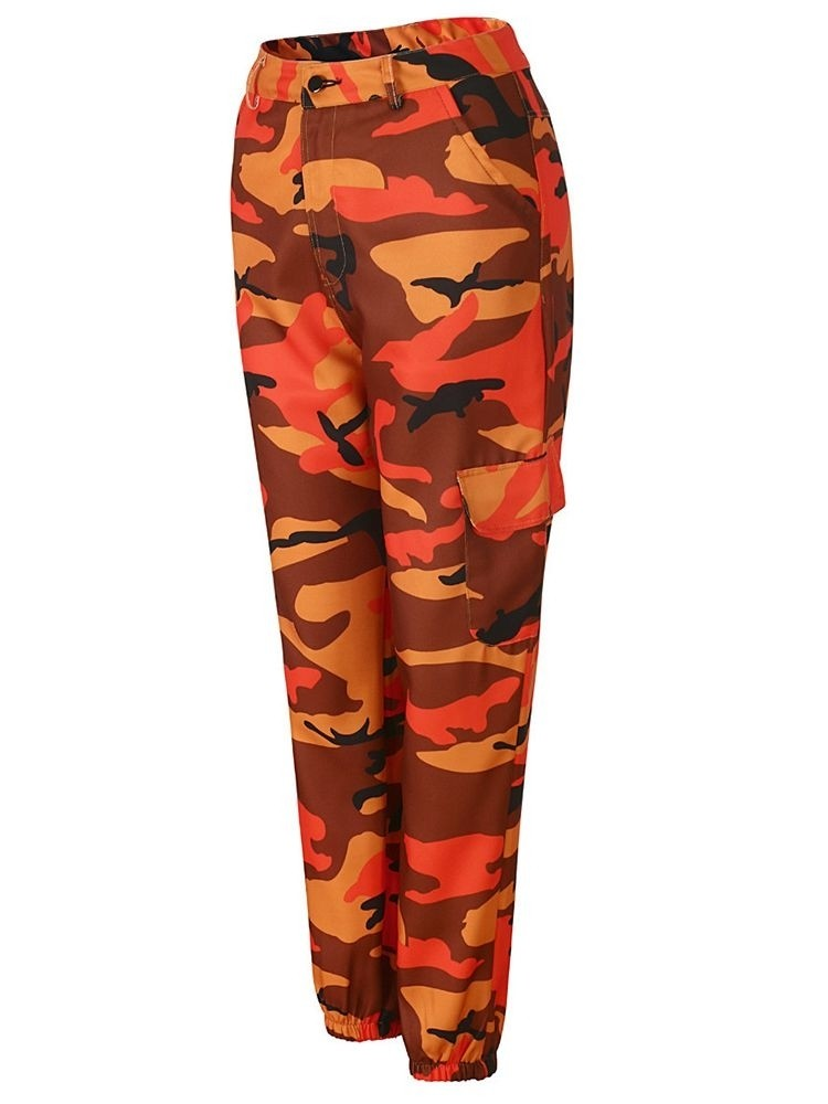JurllyShe Pockets Camouflage Loose Joggers Camo Pants