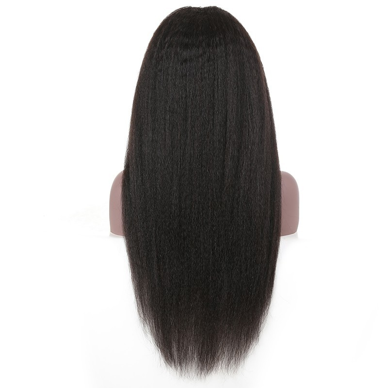 Pre Plucked Lace Frontal Kinky Straight Wig