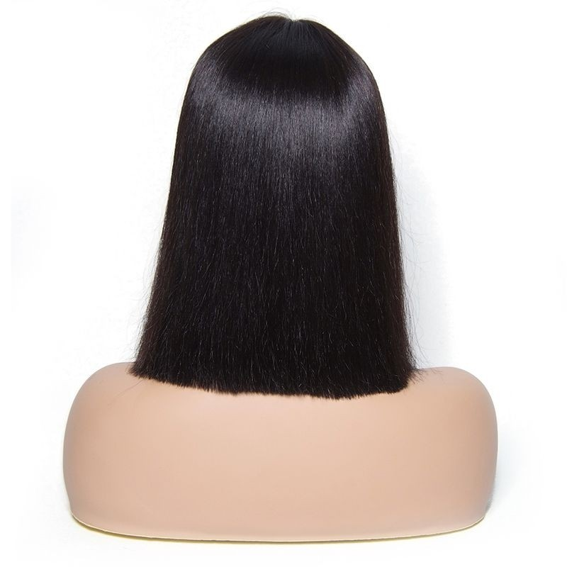 UNice Medium Center Part Straight Bob Lace Huamn Hair Wig