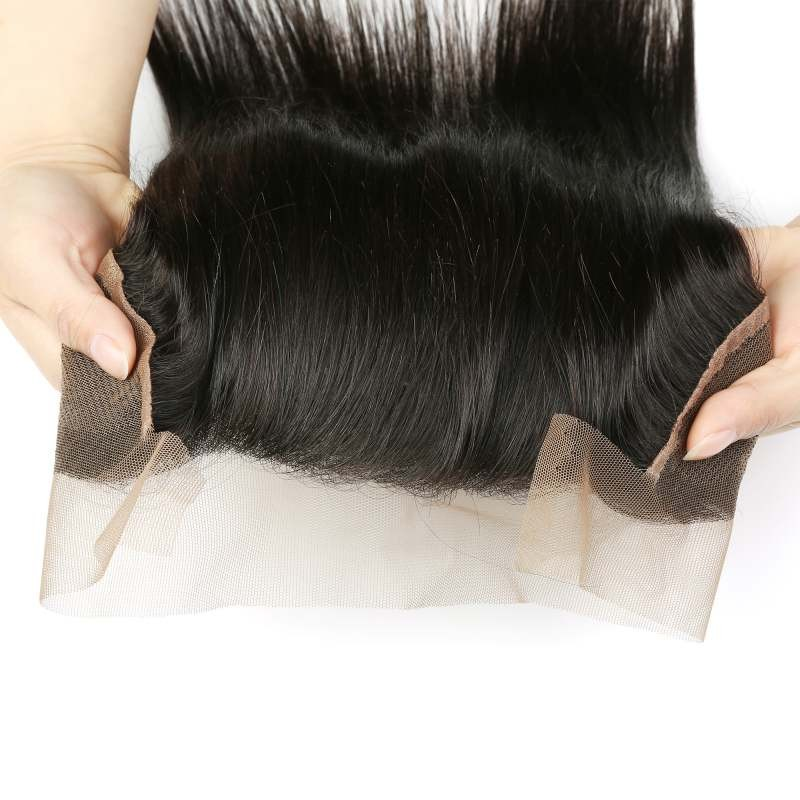 UNice Brazilian Straight Virgin Hair With 13*4 Lace Frontal