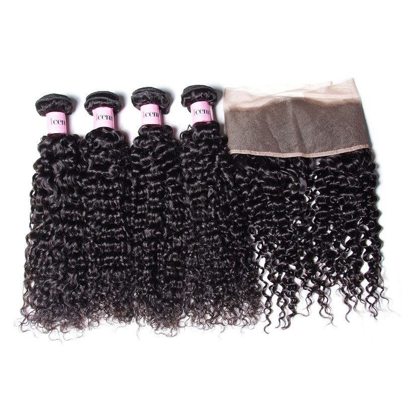UNice Icenu Series 4 Brazilian Curly Wave Hair With 134 Lace Frontal