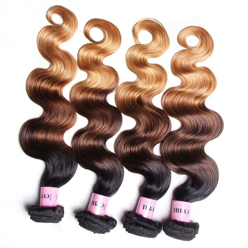 UNice Icenu Series Brazilian Human Hair Body Wave Ombre Color