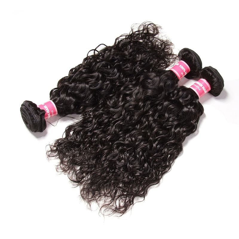AfricanMall Human Virgin Hair 3 Bundles Water Wave Virgin Human Hair