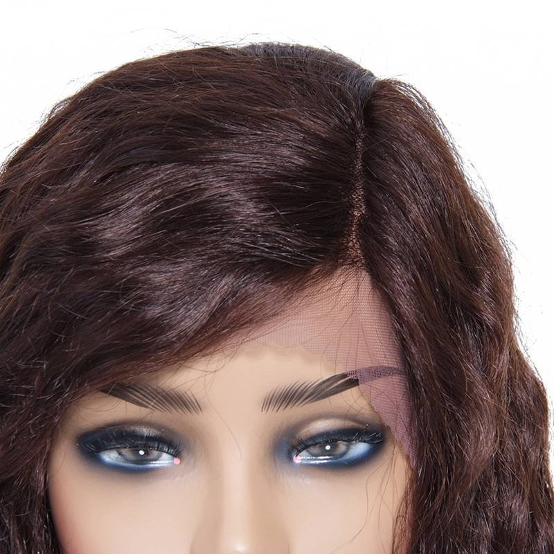 AfricanMall Curly Human Hair Lace Front Wigs With Baby Hair