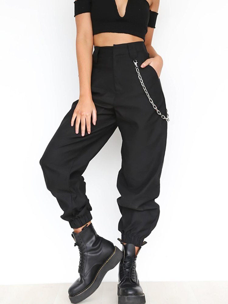 JurllyShe High Waist Pockets Cargo Pants