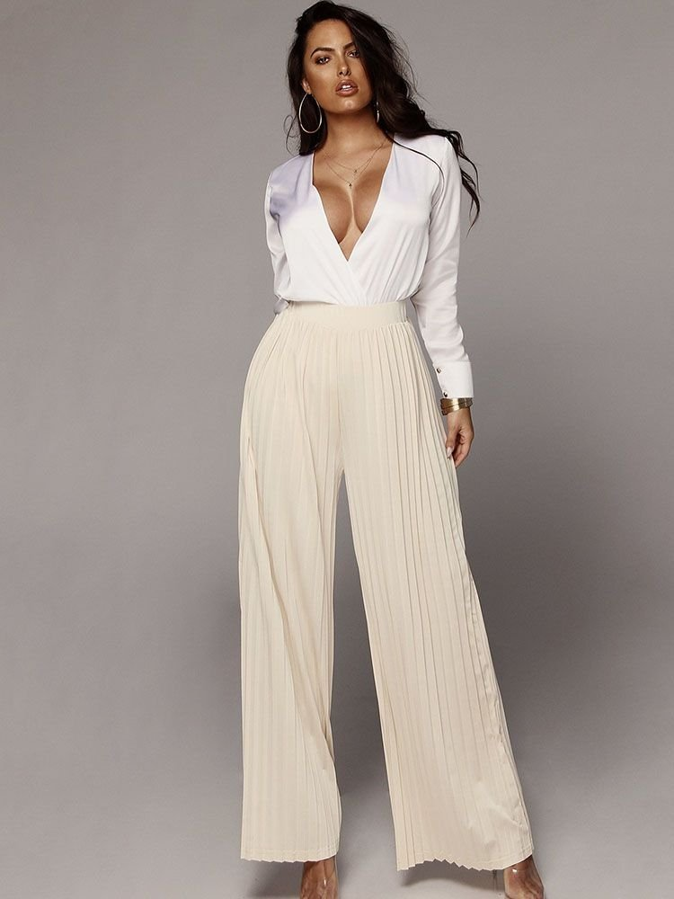 JurllyShe Loose Pleated Pants