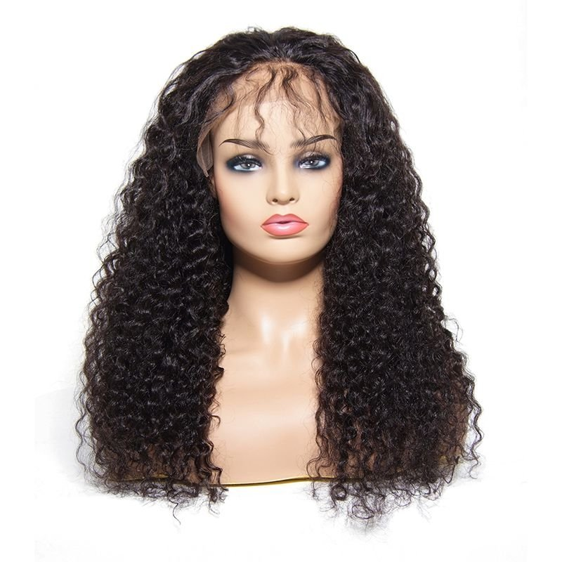 Lace Front 100% Human Hair Jerry Curly Wig