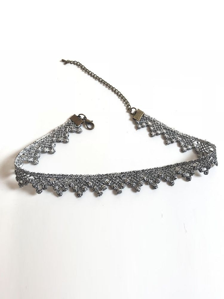 Flower Design Lace Choker Necklace
