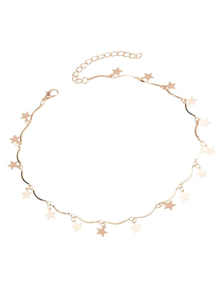 Star&Moon Decorated Adjustable Necklace