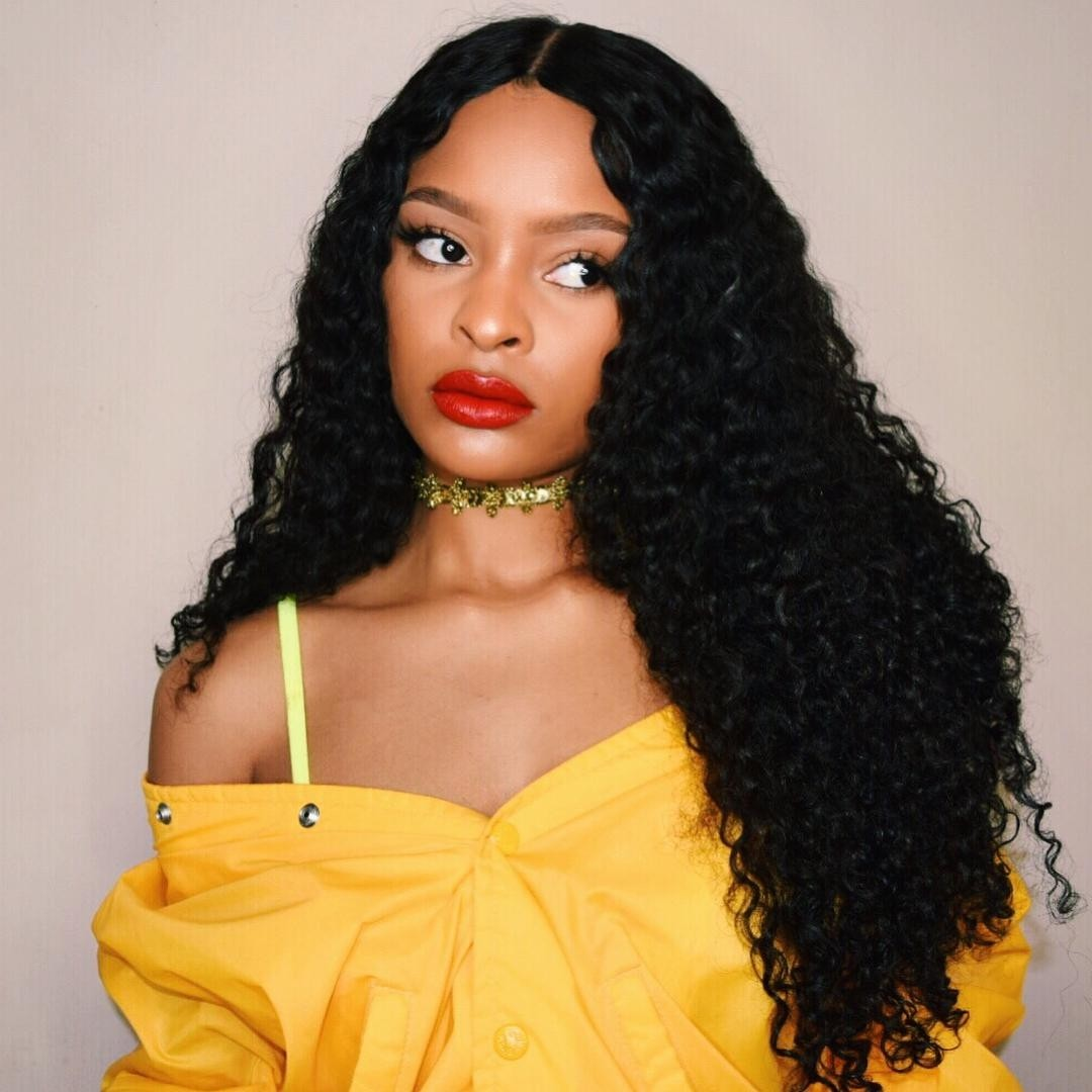 UNice Icenu Series 4 Brazilian Curly Wave Hair With 13*4 Lace Frontal