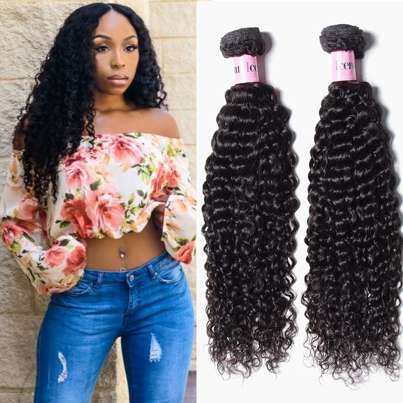 Unice 3 Bundles Virgin Brazilian Curly Hair Weave