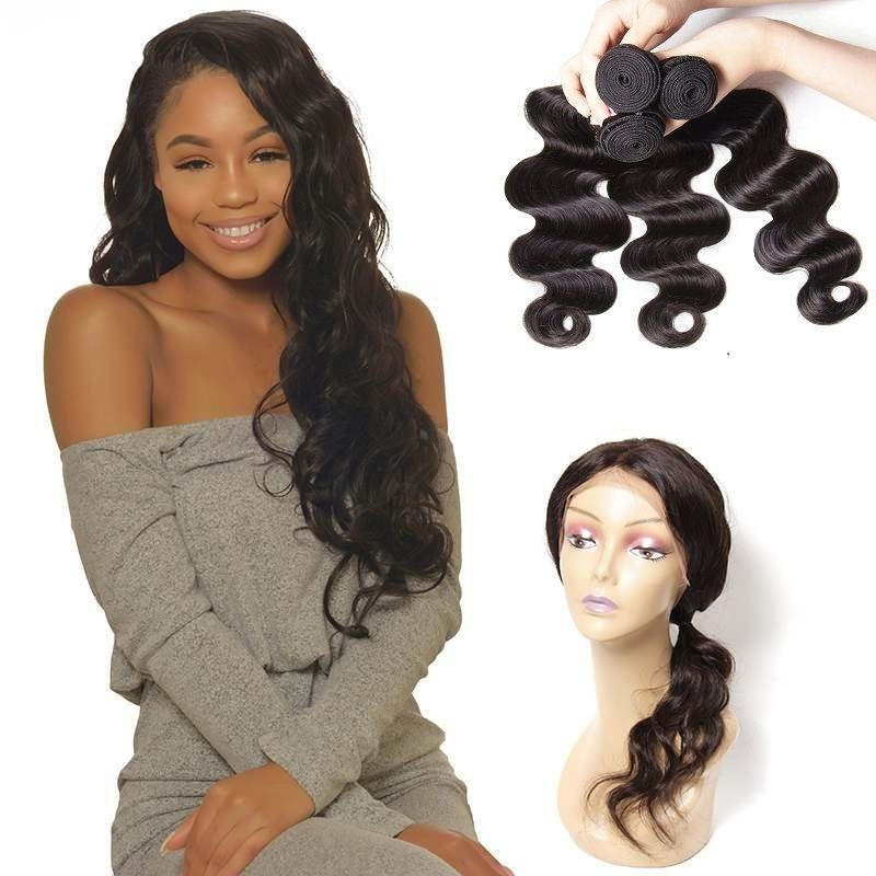 Unice Icenu Series Body Wave Brazilian Hair With 360 Lace Frontal Closure
