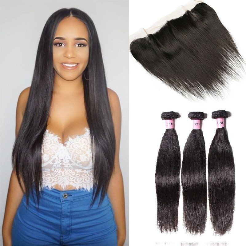 UNice Icenu Series Brazilian Straight Virgin Hair With 134 Lace Frontal