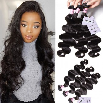 UNice Icenu Series 3 Bundles Brazilian Body Wave Virgin Human Hair