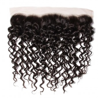 AfricanMall 13*4 Curly Weave Lace Frontal Hair Closure