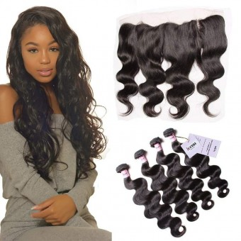 UNice Icenu Series 4 Bundles Brazilian Body Wave With Frontal