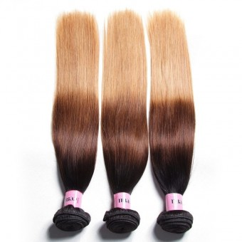UNice Icenu Series Brazilian Hair Weave Ombre Straight Virgin Human Hair