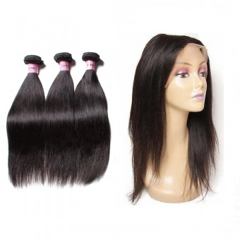 UNice Icenu Series Icenu Series Brazilian 360 Lace Frontal With Straight  Hair