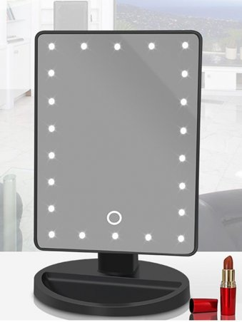 Single Side Simple Square LED Lighted Makeup Mirror