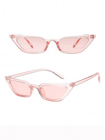 Cat's Eye Shaped Jelly Color Sunglasses