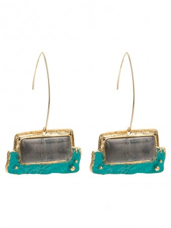 Bohemian Square Resin Vintage Earrings