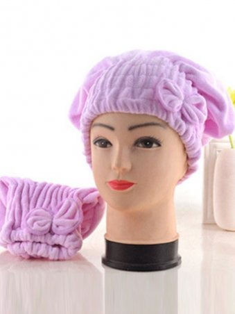 Bow Decorated Hair Soft Drying Cap