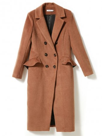 JurllyShe Double Breasted Pockets Lapel Trench Coat