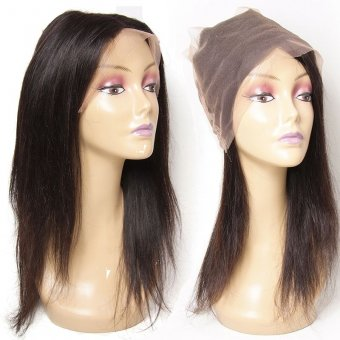 AfricanMall 360 Full Lace Frontal Closure Straight Virgin Human Hair