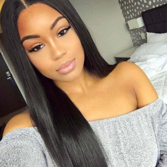 AfricanMall 4 Bundles Straight Virgin Hair With 4*4 Swiss Lace Closure