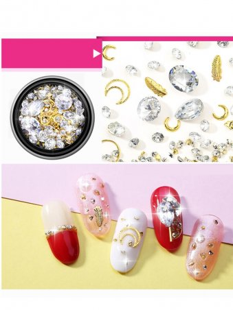 Hollow Out Rhinestone Nail Art Decorations