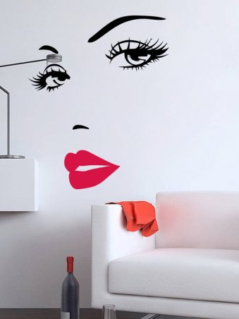 Background Funny Sticker Removable Art Mural Decals