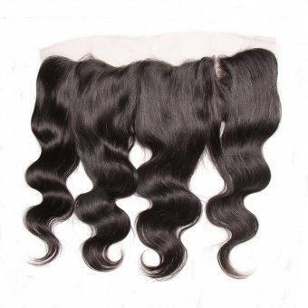 AfricanMall 13*4 Body Wave Lace Frontal Virgin Human Hair Closure