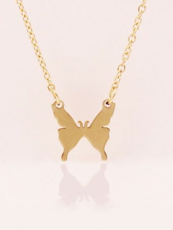 Butterfly Design Pendant Necklace