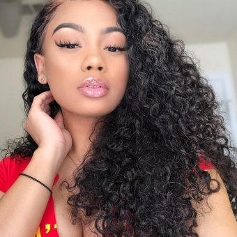 AfricanMall Human Hair 3 Bundles Curly Weave Hair Weft