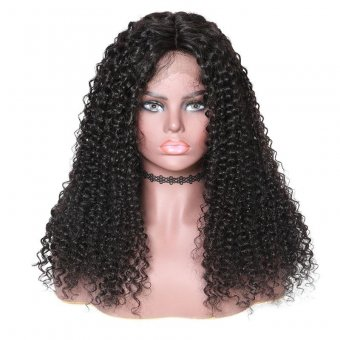 AfricanMall Jerry Curly 360 Lace Frontal Human Hair Wig