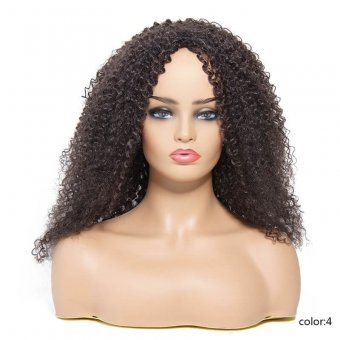 AfricanMall Fluffy Kinky Curly Synthetic Wig